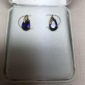 Jewelry - Cubic Zirconia Amethyst Earrings